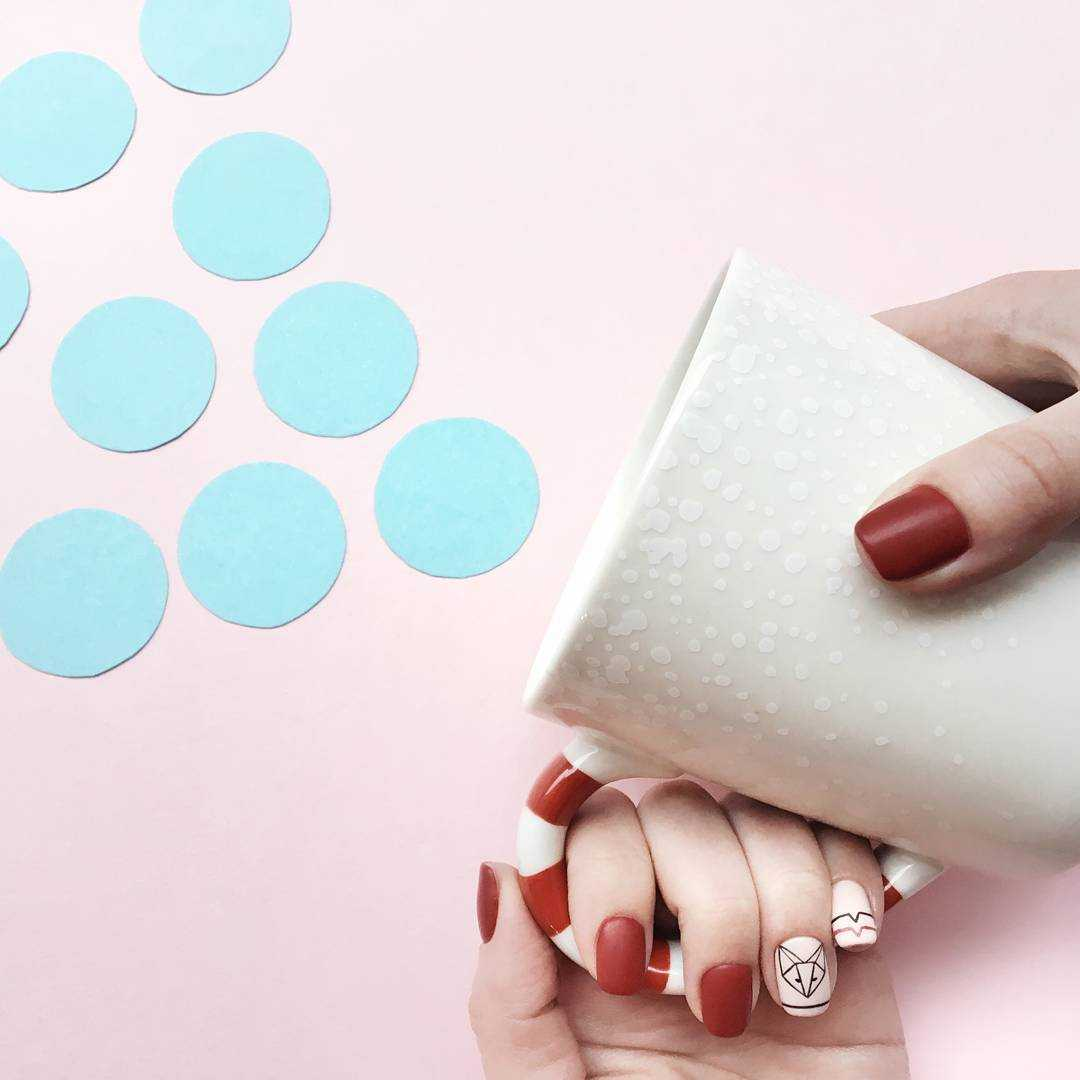 Геометрия на ногтях гель-лаком (36 фото как сделать дизайн) 57