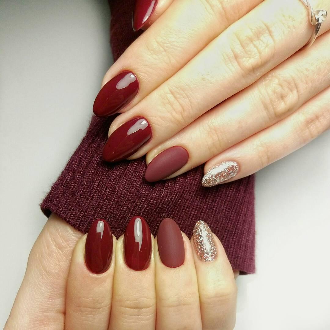 Ногти марсала