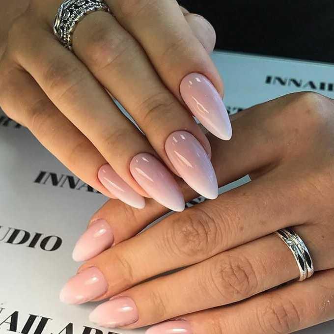 Маникюр на острые ногти
