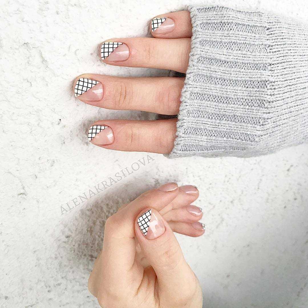 Геометрия на ногтях гель-лаком (36 фото как сделать дизайн) 78