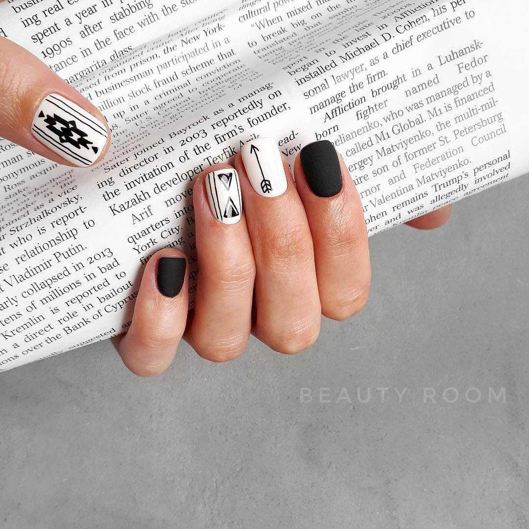 Геометрия на ногтях гель-лаком (36 фото как сделать дизайн) 83