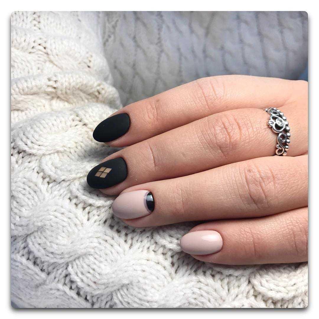 химний маникюр на короткие ногти