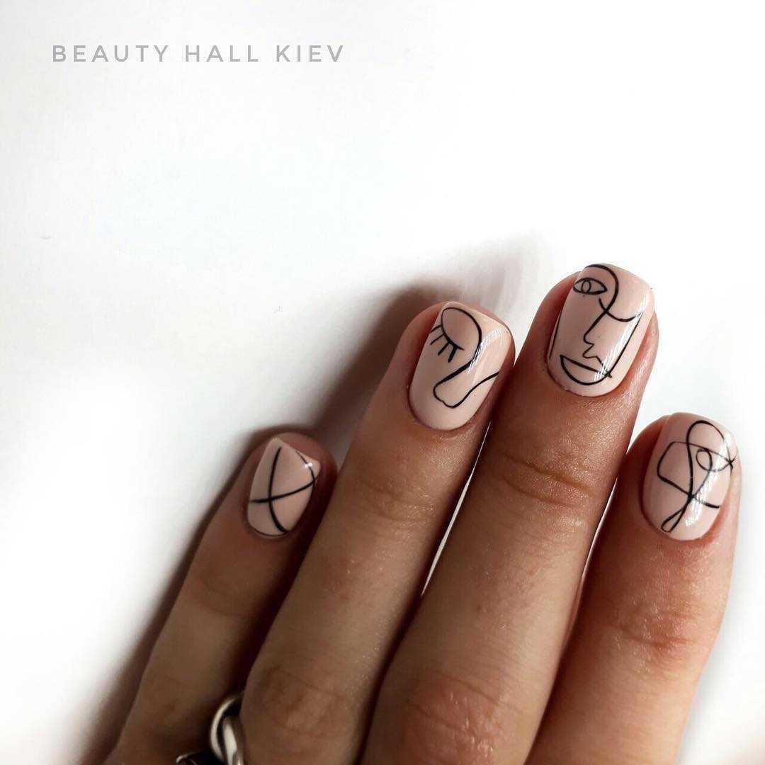 Геометрия на ногтях гель-лаком (36 фото как сделать дизайн) 3