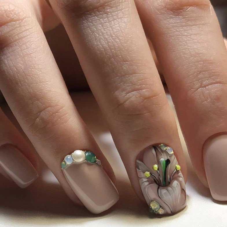 Нарощенные Ногти Без Рисунка