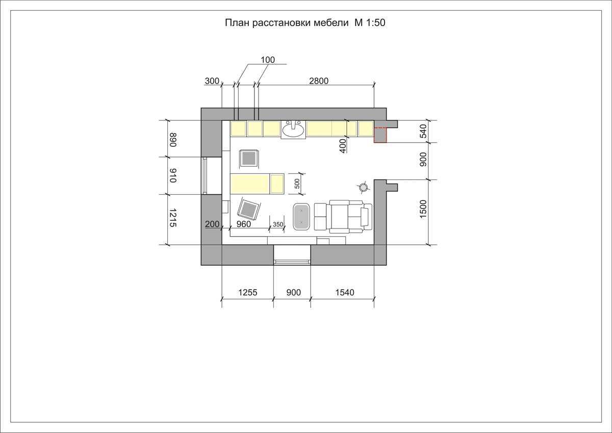 план маникюрного кабинета