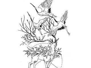 Эскиз татуировки в стиле минимализм