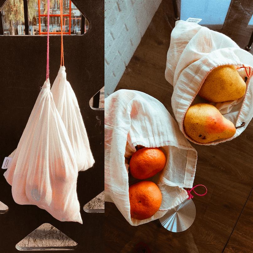 Тканевые мешочки для фруктов и овощей