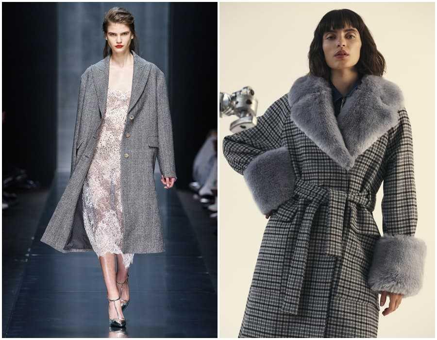 Пальто с меховыми вставками