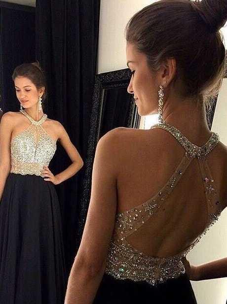 Платье вечернее с открытой спиной и камнями