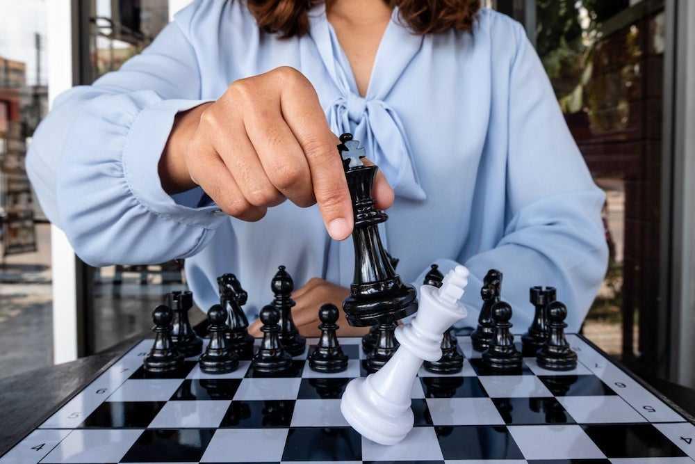 Женщина шахматистка